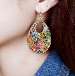Earrings summer with enamel coating