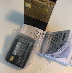 Оригинальный аккумулятор батарея ENEL15 Nikon D750