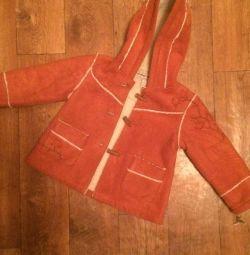 Jacket for children suede (new)