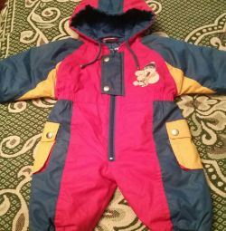 Jumpsuit spring of 3 months (52 cm without a hood)