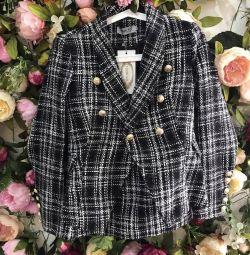 Tweed takım elbise ceket ve balmain etek