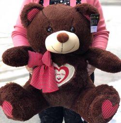 Üç renkte büyük Teddy Bear