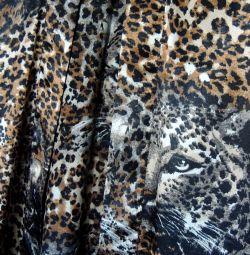 Leopard silk robe