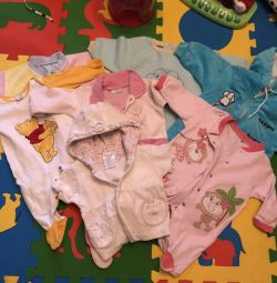 A package of children's things, body, slips, overalls