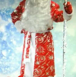 ? New Year's costume of Santa Claus Silver Stars with ties