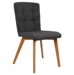 BOSTON CHAIR HM0145.10 WITH GRAY AND PU645 FABRIC