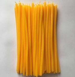 Свечи восковые желтые