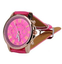 Geneva Platinum wrist watch pink