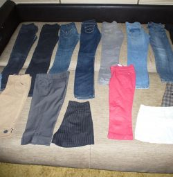 Pantaloni, blugi, pantaloni scurti, fuste pentru fată