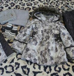 Kız için kış takım elbise