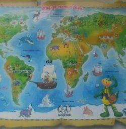 Magnetic board world map Rastishka