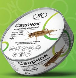 Canned feed crickets