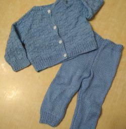 Çocuk örme takım elbise