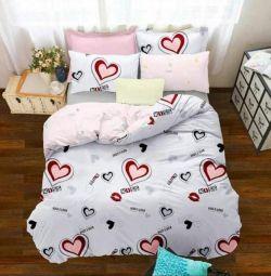 Very beautiful bed linen Euro satin