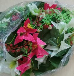 Artificial flowers and greens