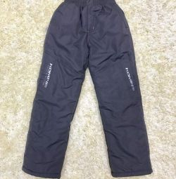 New winter pants for a boy, height 135