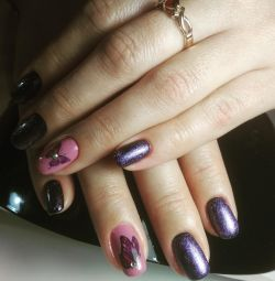 Manicure, nail extension, design.