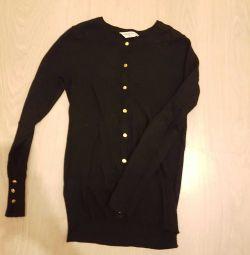 Scale sweater-cardigan