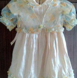 A dress with a cloak р.92-98
