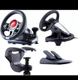 USB SVEN TURBO ile Oyun tekerleği pedallı titreşim