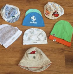 Summer hats and a cap for the boy