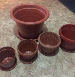 Flower Pots 5 pcs