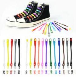Силиконовые шнурки новые (ленивые шнурки)
