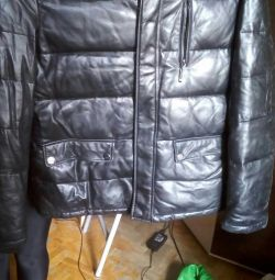 Natural leather jacket. Size 50
