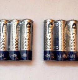 Επαναφορτιζόμενες μπαταρίες AA (3000 mA.)
