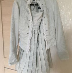 Suit jacket and skirt 44-46 size