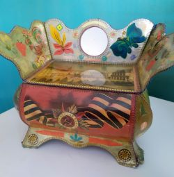 Handmade jewelry box USSR
