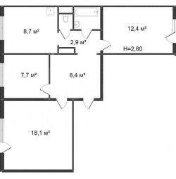 Apartament, spațiu liber, 63 m²
