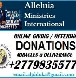 Alleluia Ministries International +27798355779