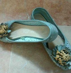 Туфлі балетки р.36 колір блакитний, літній варіант ..
