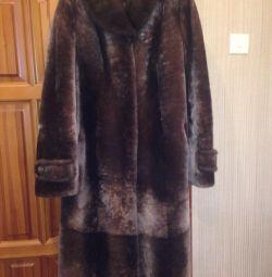 Muton fur coat + mink