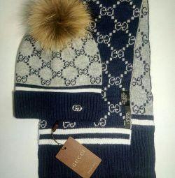Καπέλο Gucci + κασκόλ