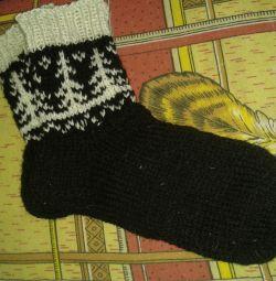 в'яжу сама-Теплі в'язані шкарпетки
