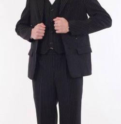 Pants and school uniform.
