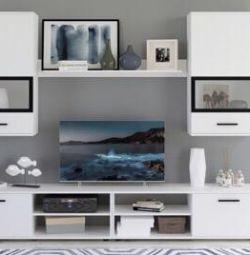 Perete TV alb