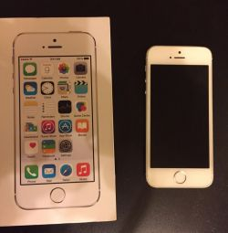 iPhone 5s alb, 16GB.