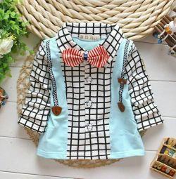 Shirt pentru un băiat cu un fluture (1-1,5 ani)