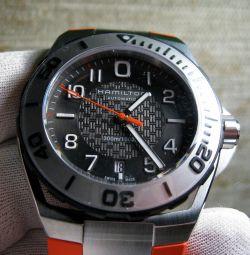 Годинники чоловічі Hamilton H78615985 Khaki Navy дайвер