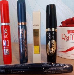 Mascara Oriflame, Faberlic and Avon.