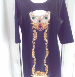 Νέο φόρεμα με δερμάτινη κορυφή