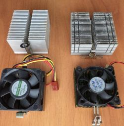 Радиатор алюминиевый и вентилятор Socket 370