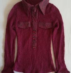 Μπλούζα πουκάμισο, μαλλί (mohair), p-44 (46)