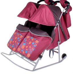 Wheelchair sled for twins