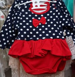bodysuit dress blue and red polka dots