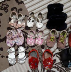 Пакет обуви и одежды.