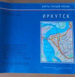 Χάρτης του Ιρκούτσκ.
